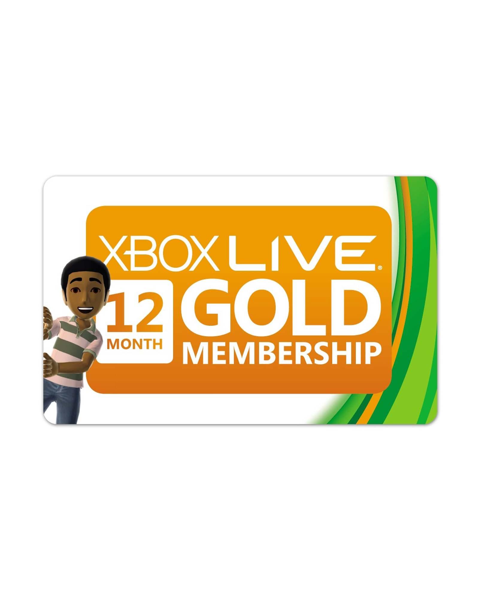 Microsoft Xbox Live Gold 12 maanden
